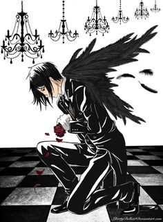 Sebastian Michaelis ~ Black Butler ~ Fallen Angel by LibertyBella on deviantART