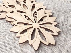 """Wood coasters.  You can add a natural, rustic touch to your home decor or fall, winter wedding decorations, not painted, unfinished wood laser sut slices.  Set of 4 Dimensions: diameter 8,8cm / 3.5"""", thickness 3mm / 0.11"""". * Materials: wood. * It will come nicely gift wrapped."""