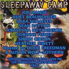 COOL Off with Some Super Chill Comedy TONIGHT 8/19 at Sleepaway Camp