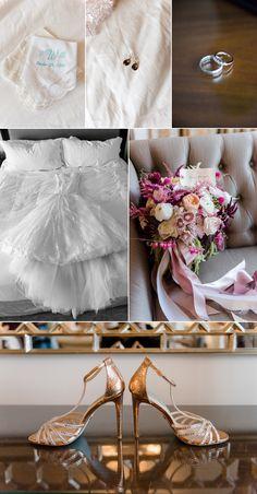 Wedding Gown, bridal shoes, wedding rings, bridal wedding bouquet