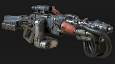 Inspired by various Wolfenstein weapons Sci Fi Weapons, Weapon Concept Art, Fantasy Weapons, Weapons Guns, Modified Nerf Guns, Future Weapons, Wolfenstein, Fallout New Vegas, Black Dragon