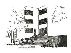 Edifício do Forúm. Percy de Oliveira. 1989. Imagem do acervo do APHRC