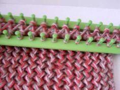 mi primera bufanda en telar rectangular 1/3