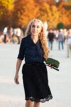 Franca Sozzani - Editor-in-chief of Vogue Italia. She's 61. She's fabulous.