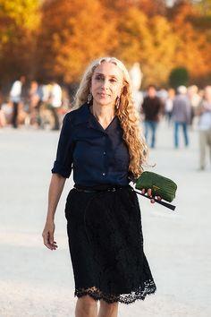 Franca Sozzani - Editor-in-chief of Vogue Italia. She's 61. She's fabulous.