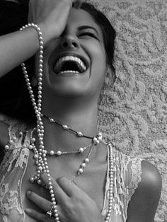 Laughing until your stomach hurts. love when people laugh so hard they throw their head back!