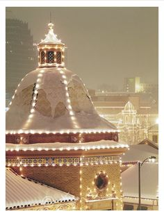 Kansas City at Christmas.