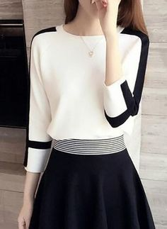 Fancy Tops, Trendy Tops, Stylish Work Outfits, Casual Outfits, Designs For Dresses, Mode Hijab, Business Attire, Skirt Outfits, Asian Fashion
