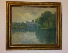 Rolla Sims Taylor original painting signed antique frame American listed artist