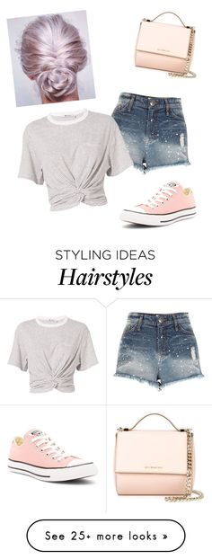 """pink hair"" by egmcbroom on Polyvore featuring River Island, Givenchy, T By Alexander Wang, Converse, hairtrend and rainbowhair"