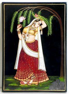 Vasanta (Nirmal Paintings on Hardboard) Dance Paintings, Rajasthani Painting, Indian Art Paintings, Canvas Painting Designs, Madhubani Art, Madhubani Painting, Folk Art Painting, Indian Art Gallery, Mughal Paintings