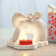 Now selling PartyLite! Mother's Joy Polar Bear Tealight Holder - Lovable polar cub hitches a ride on Mama's sturdy back. Sweetly rendered in hand-painted porcelain. For use with a tealight, sold separately. Tea Light Candles, Tea Lights, Polar Cub, Polar Bears, Bougie Partylite, Candles Online, Tea Light Holder, Hand Painted, Painted Porcelain