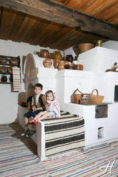 Moldova, traditional home decoration. Romania People, Home Design, Interior Design, Tuile, European Home Decor, Earth Homes, Rocket Stoves, Classic House, Historic Homes