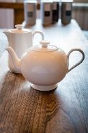 Bone China glass vintage teaware: tea sets, English tea pots, hand painted Japanese tea sets. Sasha Wardell. Empty Tea Bags & strainers