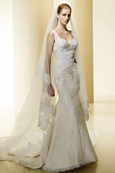 lace wedding dress with straps @Kaleigh Wallace Wallace Wallace Matherne