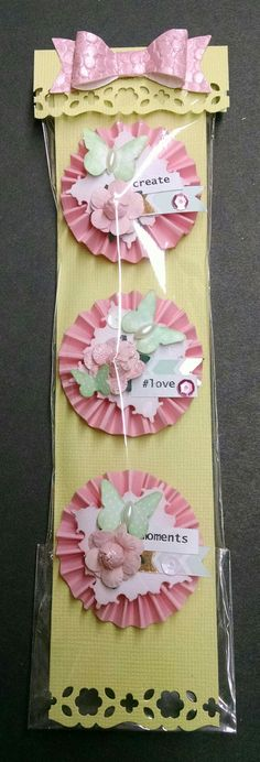 Mini rosette embellishments