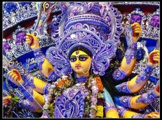 Bangladesh - Durga ( Hindu Goddess ) Puja. The Durga Puja is a yearly Hindu celebration in South Asia that commends love of the Hindu goddess Durga.