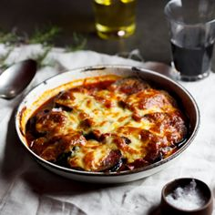 Parmigiana di Melanzane with mushrooms