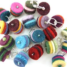 Recycled sweater felts. Great way to use up felted sweater scraps. Pagano DesignWorks CataBlog: Lots of views!