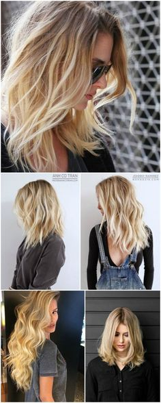 the one down to the left, beautiful golden blonde shade :) Different Blond, Ombre Hair, Blonde Hair, Corte Y Color, How To Make Hair, Layered Hair, Hair Day, Hair Looks, Her Hair