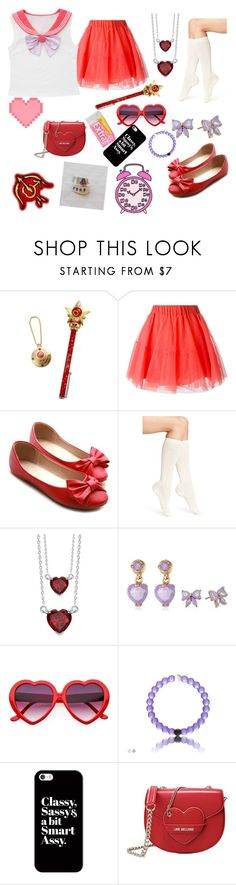 """""""Kawaii Sailor Mars"""" by zozo-chan ❤ liked on Polyvore featuring P.A.R.O.S.H., Ollio, Calvin Klein, Augustine Jewels, Betsey Johnson, Casetify and Love Moschino"""