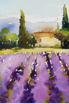 Our upcoming trip in 2018 with artist Kathy Karas to paint in watercolour in Amsterdam, Paris and Provence. # WATER PHOTO Our upcoming trip in 2018 with artist Kathy Karas to paint in watercolour in Amsterdam, Paris and Provence. Watercolor Painting Techniques, Watercolor Landscape Paintings, Landscape Art, Watercolor Landscape Tutorial, Paradise Landscape, Watercolor Artists, Watercolor Pictures, Easy Watercolor, Watercolor Flowers
