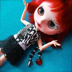 OOAK Blythe Art Doll Albery Blythe Doll Custom by ErikosEmporium