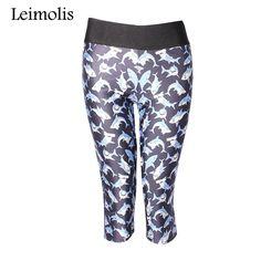 Leimolis 3D print sea shark fitness push up high waist capris leggings women plus size adventure time punk rock pants //Price: $15.80 & FREE Shipping //     #womensprintedleggings