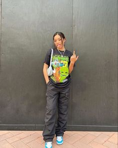 Cute Swag Outfits, Edgy Outfits, Teen Fashion Outfits, Retro Outfits, Girl Outfits, Tomboy Fashion, Look Fashion, Streetwear Fashion, Girl Streetwear