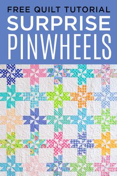Make a Surprise Pinwheel Quilt with Jenny Doan in her Video Tutorial!