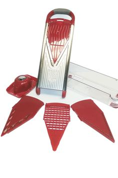 Stainless Steel V-Slicer (7 Piece Set): A Powerful Fruit And Vegetable Slicer. Prep Food With Speed And Precision.