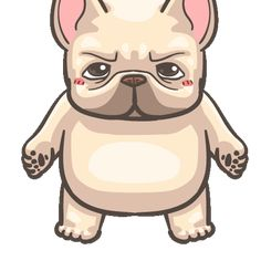 French Bulldog PIGU-Sticker VIII Cartoon Stickers, Funny Stickers, Bulldog Gif, Funny Bulldog, Funny Bears, Dog Illustration, Cute Dogs And Puppies, Cute Gif, Dog Art