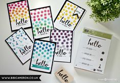 Independent UK Stampin' Up! Demonstrator Bibi Cameron: STAMPING BACKGROUNDS WITH SMALL STAMPS + HELLO STAMP SET STAMPIN' UP! SAB