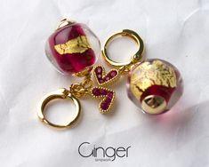 Pink and Gold Lampwork Bead Earrings, Casual women jewelry, lampwork beads earrings, Handmade Jewelry, birthday gift Earrings Handmade, Handmade Jewelry, Handmade Items, Cute Earrings, Bead Earrings, Lampwork Beads, Pink And Gold, Birthday Gifts, Great Gifts
