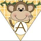 This cute little alphabet monkey pennant banner would go great with a jungle themed classroom. Use the capital and lowercase letters to make custom...