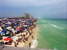 The Blue Angel's Air Show   July 12, 2014   Pensacola Beach, Florida   Everyone out of the water during Air Show.