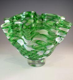 New Green, Green Art, Pineapple Pattern, Art Sculptures, Candy Dishes, Glass Art, Favorite Things, Art Pieces, Original Art