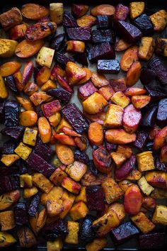 Roasted Root Vegetables - I would use olive oil instead of lard.