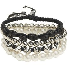 Cord Faux Pearl Bracelet 4-Pack