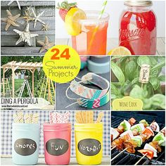 Great Ideas -- 24 DIY Summer Projects!!