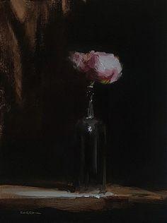 Neil Carroll Original Oil Painting Realism Impressionism Still Life Peony