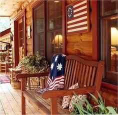 cabin porch..