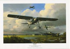 Print of Hermann Goering s personal Fieseler Fi 156 Storch World War II Aircraft. Available at £7.99, Worldwide postage.