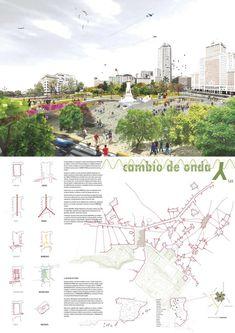 Landscape Architecture Design, Architecture Board, Presentation Design, Presentation Boards, Architectural Presentation, Plaza, Photoshop, Layout, Master Plan