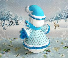 Christmas ornament snowman toy 3D Quilled Paper snowman