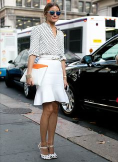 2. Olivia Palermo: Fashion blogger and socialite Eu tenho que comentar: visual maravilhoso, clean.Amei!