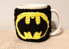 Crochet Mug Cozy / Batman Cozy / Crochet Cozy / by GuysCrochetToo