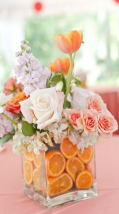 How to Use Citrus Fruit In Fresh Flower Arrangements