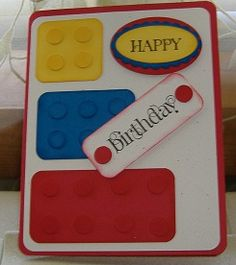 Mary Lee's Stamping: Lego card