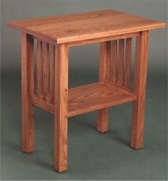 Mission End Table With Shelf